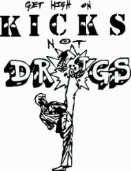 Get High On Kicks Anti Drug Logo