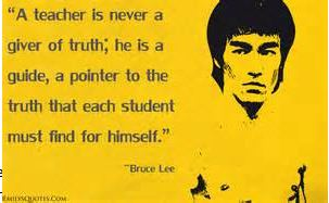Bruce Lee Quote on teaching, LVkarate.com