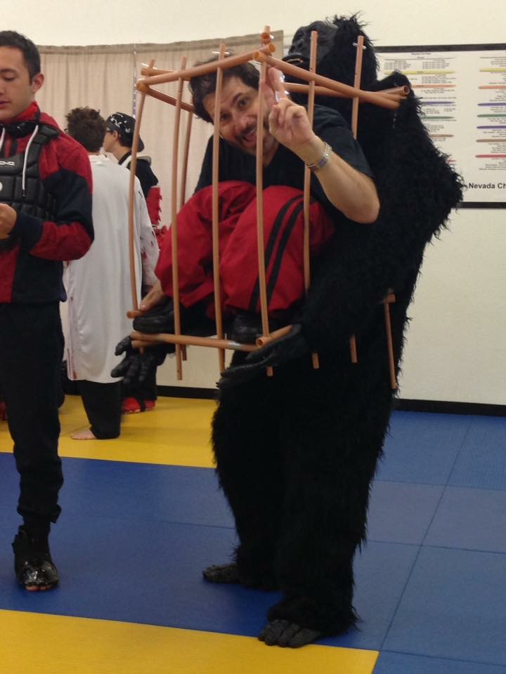 Master Allen Sarac in costume at the Annual Halloween Karate Tournament in Las Vegas