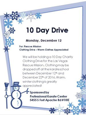 10 Day Charity Drive - Las Vegas Rescue Mission