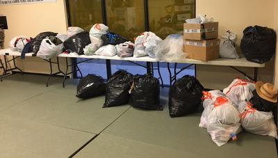 Clothes Collected By Students at Allen Sarac's Professional Karate Center for the Las Vegas Rescue Mission