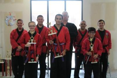 Group shot of kata winners