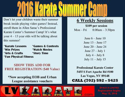 Karate Camp Is Open