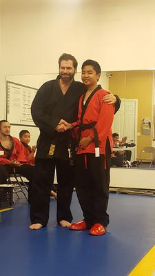 Congratulations! Owen's Black Belt Exam