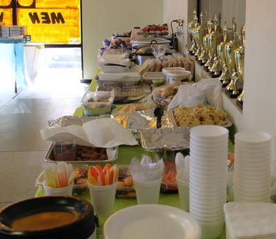 Karate Pot Lunch - Thank you parents for the food!