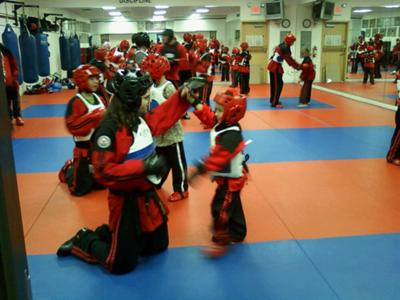 Georgie's first day of sparring class